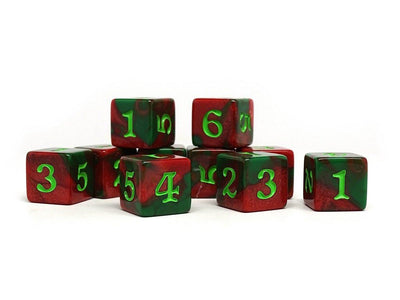 10 Pack Army D6 Dice Set #20 - 10 Count D6 Collection