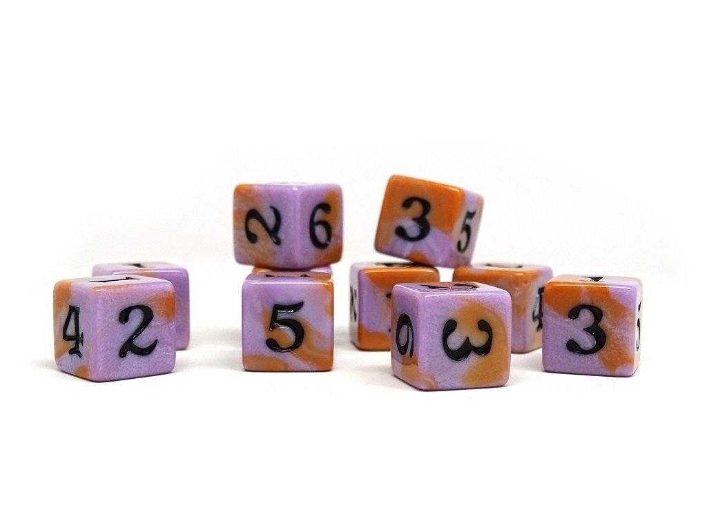 10 Pack Army D6 Dice Set #16 - 10 Count D6 Collection