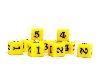 10 Pack Army D6 Dice Set #10 - 10 Count D6 Collection