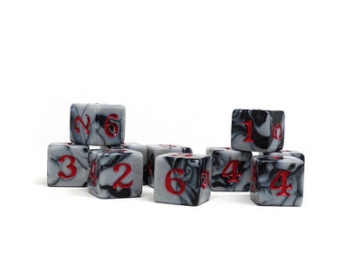 10 Pack Army D6 Dice Set #9 - 10 Count D6 Collection