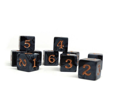 10 Pack Army D6 Dice Set #18 - 10 Count D6 Collection