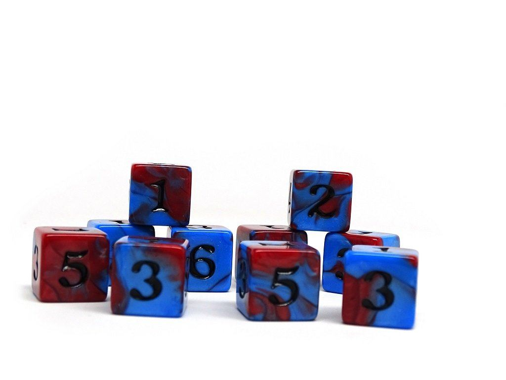 10 Pack Army D6 Dice Set #15 - 10 Count D6 Collection