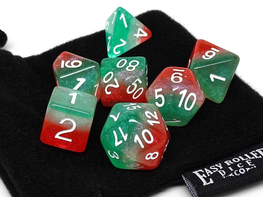 Frozen 3 Tone - Green, White, and Red with White Font - 7 Piece Set