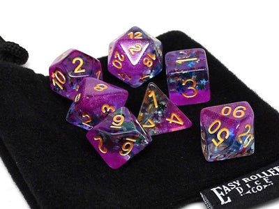 Frozen Purple with Stars - Gold Font - 7 Piece Set