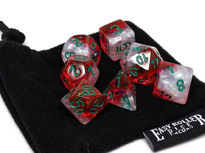 Marble with Orange Glitter - Green Font - 7 Piece Set