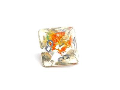 Translucent Neuron Teal and Orange Dice Collection - 7 Piece Set