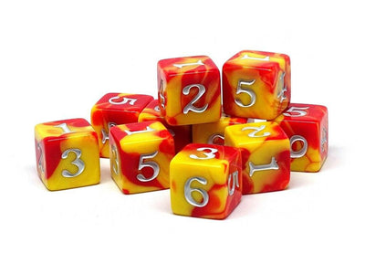 10 Pack Army D6 Dice Set #8 - 10 Count D6 Collection