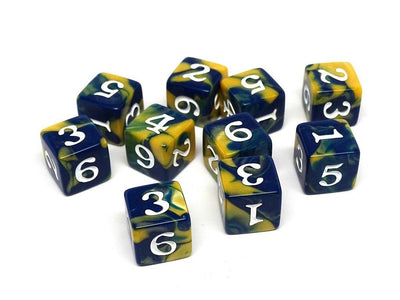 10 Pack Army D6 Dice Set #17 - 10 Count D6 Collection
