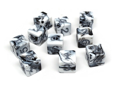 10 Pack Army D6 Dice Set #5 - 10 Count D6 Collection