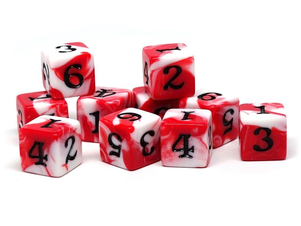 10 Pack Army D6 Dice Set #3 - 10 Count D6 Collection