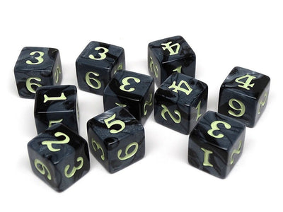10 Pack Army D6 Dice Set #14 - 10 Count D6 Collection