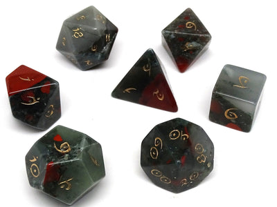 Stone Dice Collection - African Bloodstone - Elvenkind Font