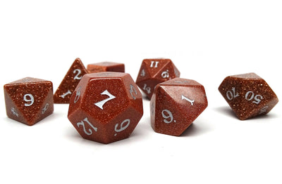 Stone Dice Collection - Goldstone - Signature Font