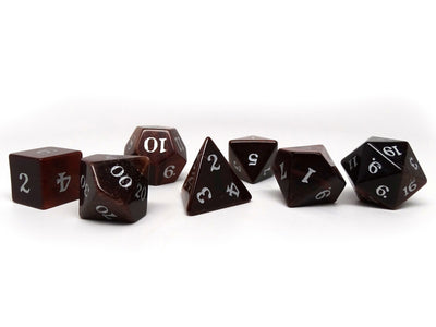 Stone Dice Collection - Red Tigers Eye- Signature Font