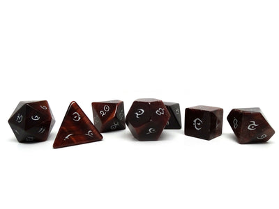Stone Dice Collection - Red Tigers Eye- Elvenkind Font