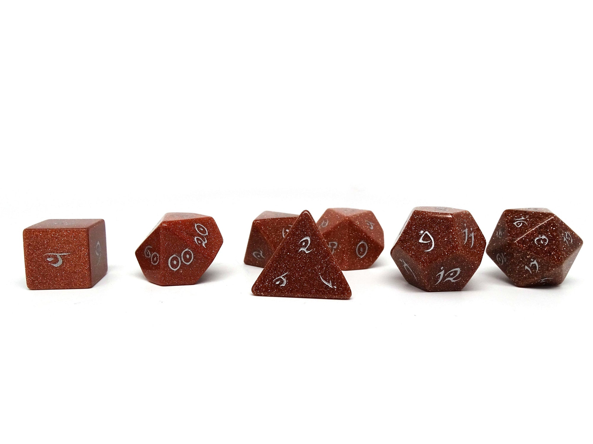Stone Dice Collection - Goldstone - Elvenkind Font
