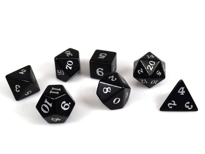 Stone Dice Collection - Obsidian - Signature Font