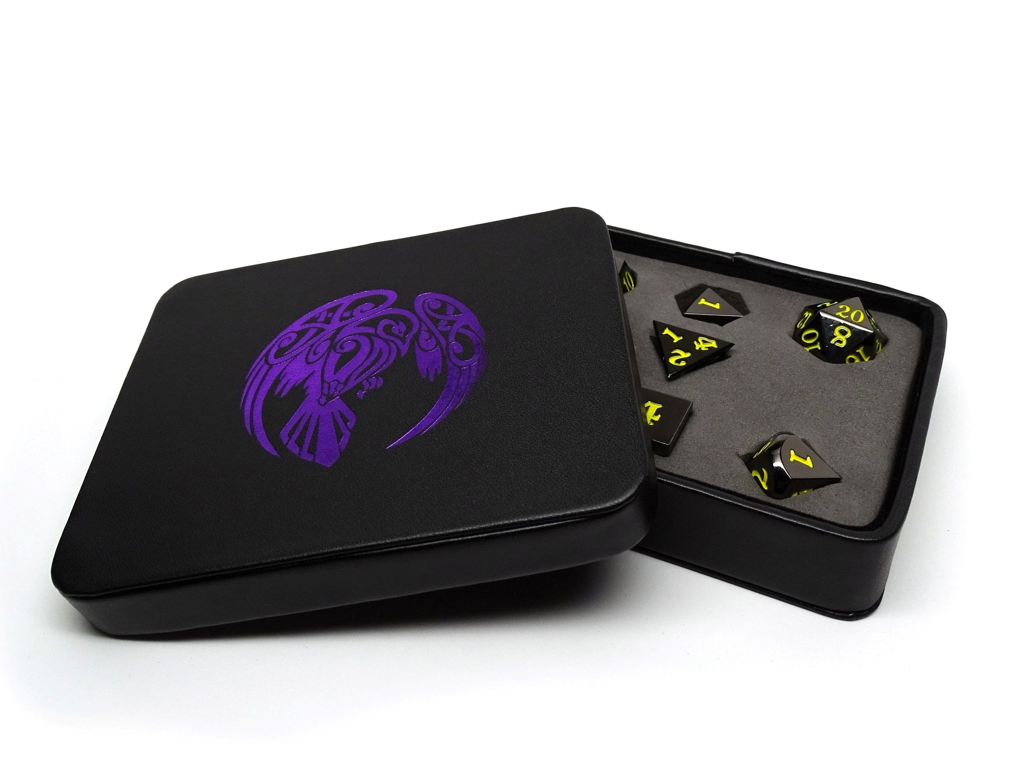 Dice Display and Storage Case - Raven Design