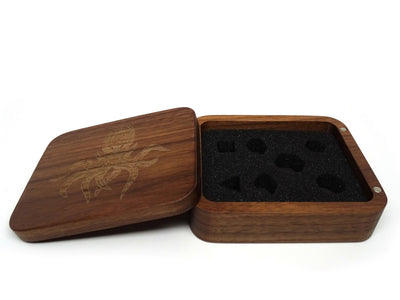 Black Walnut Wood Dice Case - Cthulhu Design