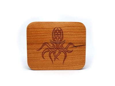 Cherry Wood Dice Case - Cthulhu Design
