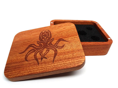 wooden cthulhu dice box