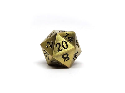 4 Pack of Legendary Metal Dice D20s - Copper Dice, Bronze Dice, Silver Dice, Gold Dice