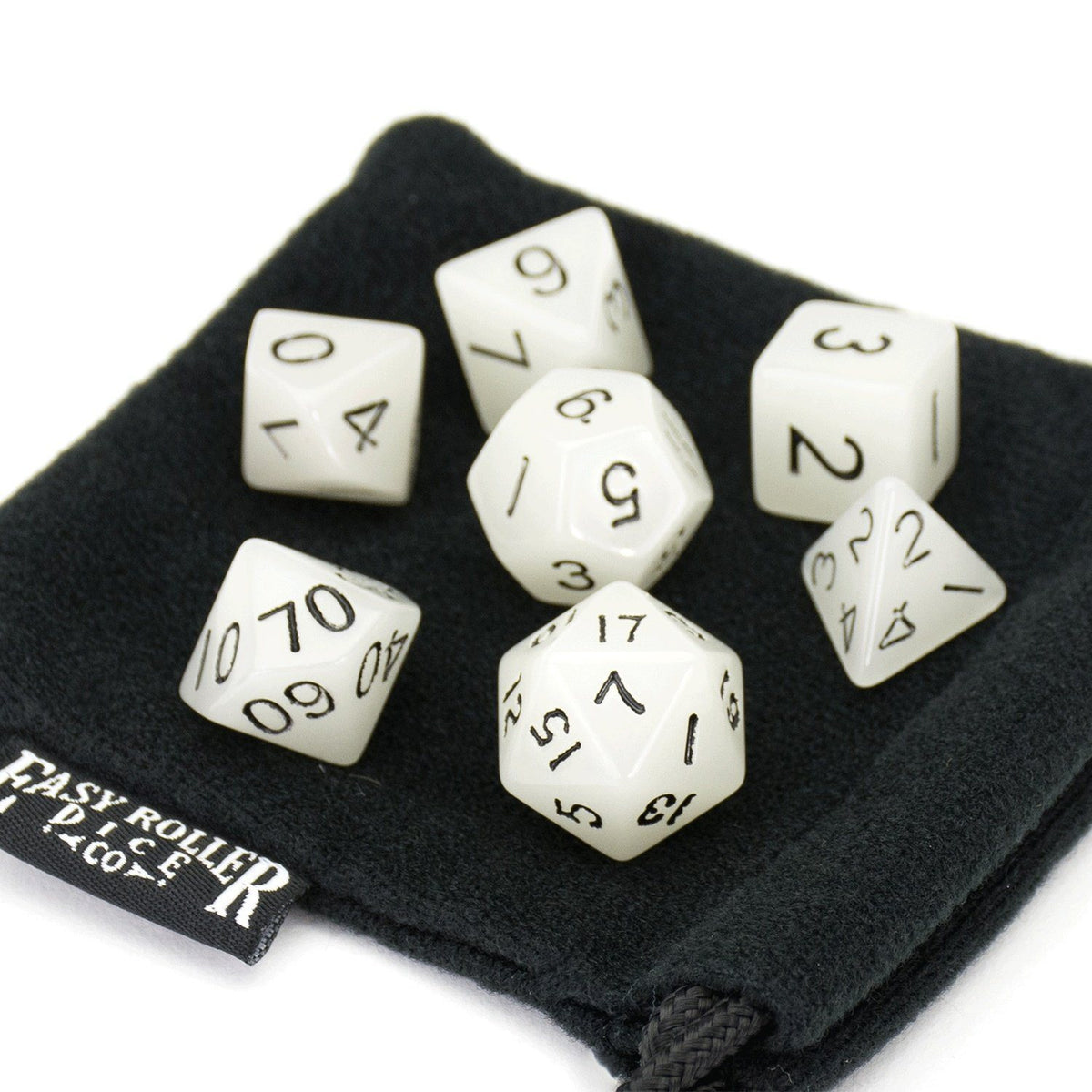 Glow In The Dark 7 Dice Set