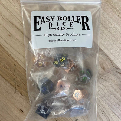 Half Pound Bag of Random Metal Dice - Random Colors, Random Sizes