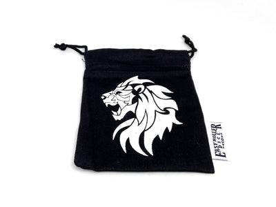 Small Cotton Twill Dice Bag - Lion Design