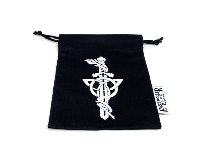 Small Cotton Twill Dice Bag - Dagger Design