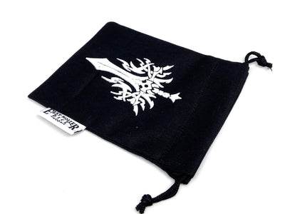 Small Cotton Twill Dice Bag - Sword Design