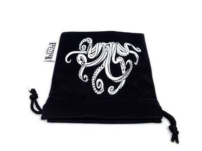 Small Cotton Twill Dice Bag - Tentacles Design