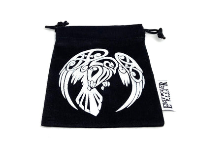Small Cotton Twill Dice Bag - Raven Design