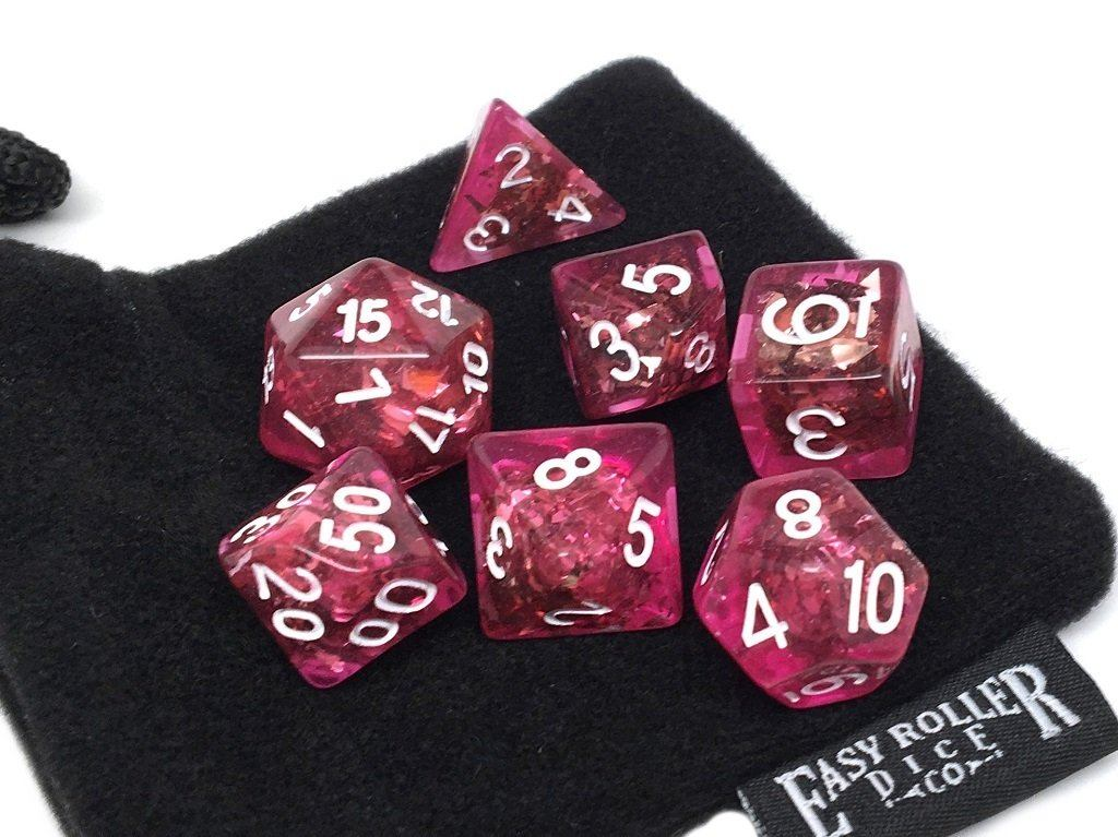 Rose Bling Dice Collection - 7 Piece Set