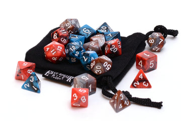 3 Pack of Gamers Dice- Includes 3 of our popular 7-Piece Sets with Free Dice Bag
