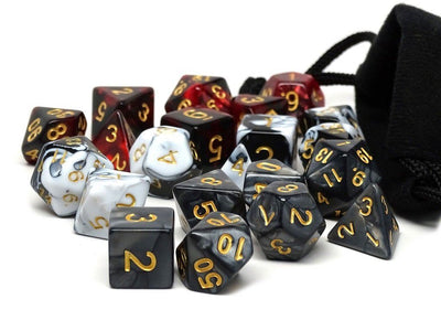 3 Pack of Assassin's Dice - Best Selling Polyhedral Dice Sets