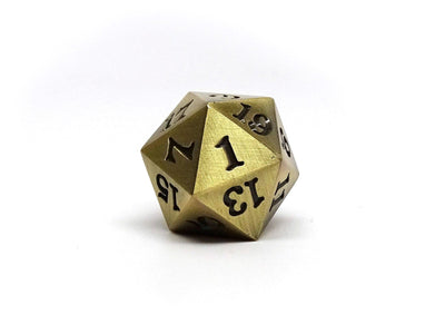 Legendary Bronze D20 Dice - Metal Single 20 Sided Dice