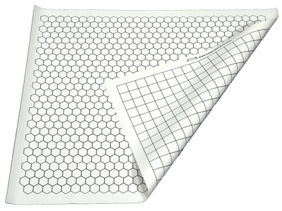 Tabletop Gaming Mat - Vinyl Double Sided With Hexes and Squares