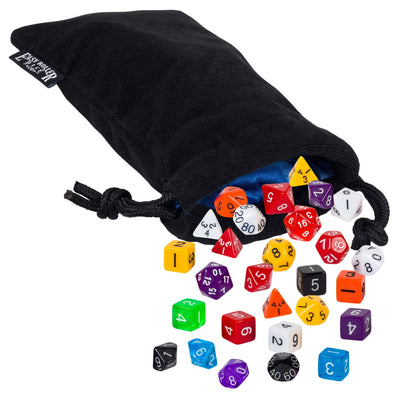 math dice with pouch