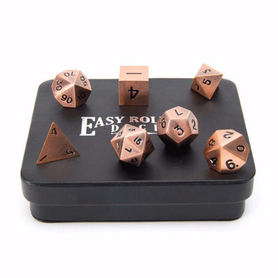 box of copper dice