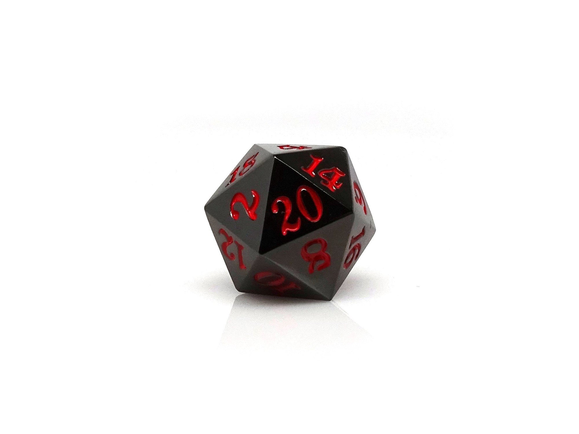 Gun Metal D20 - Signature Font -  Red Font