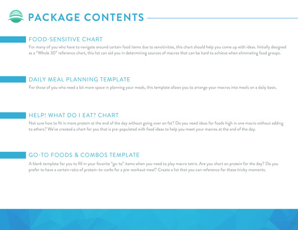 WAG Meal Planning Package
