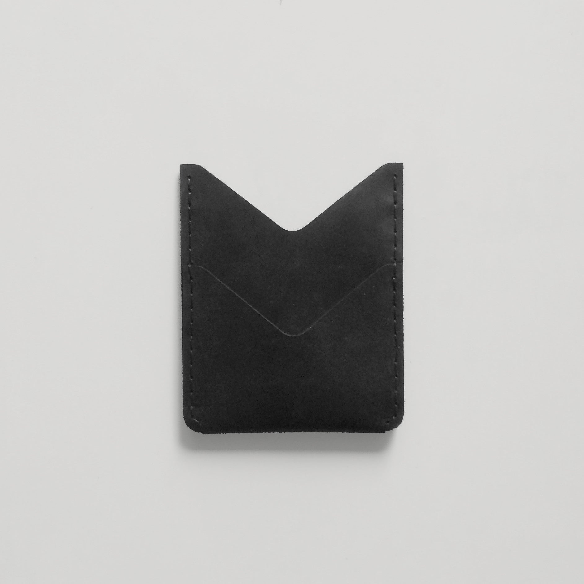 DOUBLE POCKET WALLET BLACK