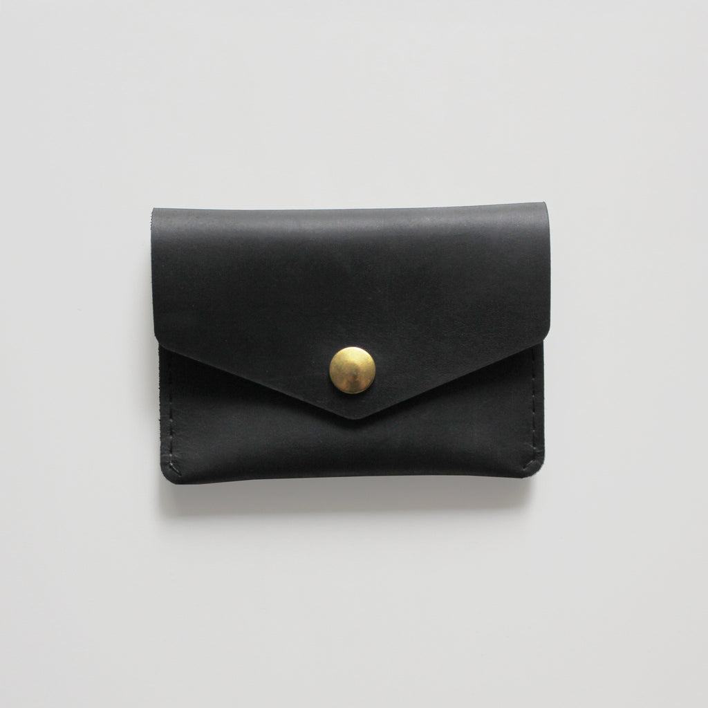 SINGLE SNAP WALLET BLACK