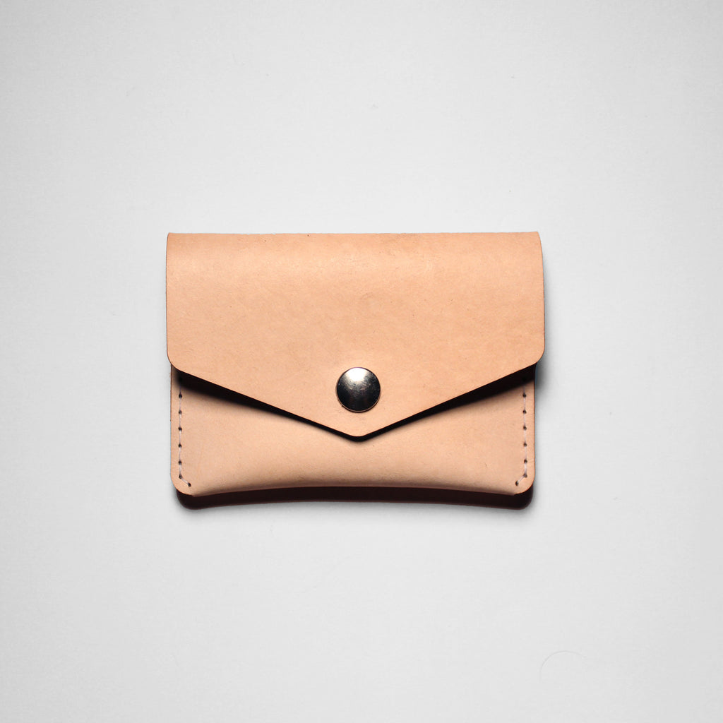 SINGLE SNAP WALLET VEGGIE TAN
