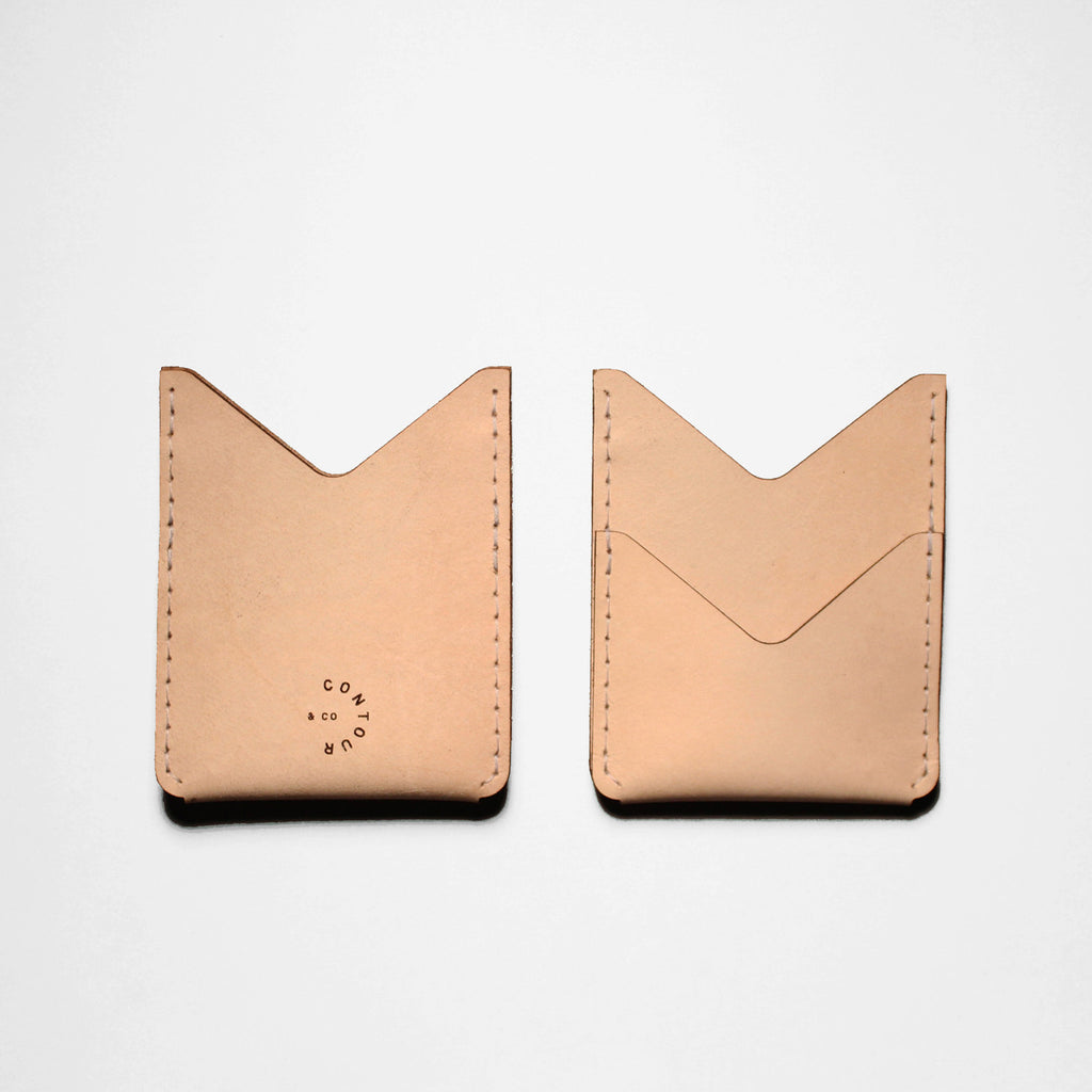 DOUBLE POCKET WALLET VEGGIE TAN