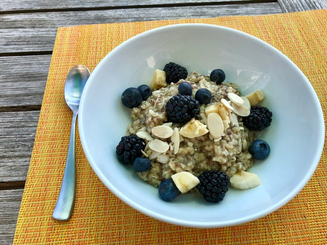 A Calming Bowl of Oatmeal for Deep Peaceful Thinking and Sleep