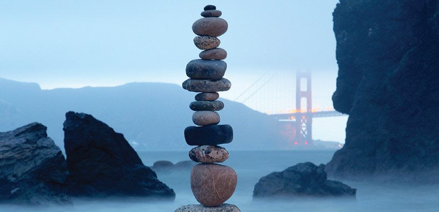 To achieve balance in life, start with rocks