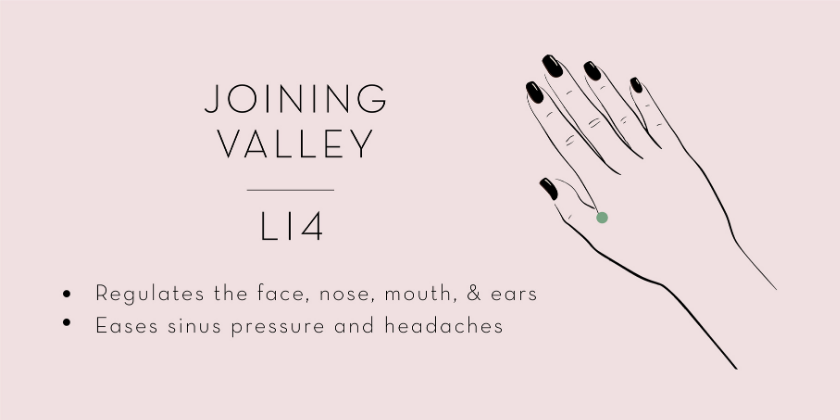 joining valley acupressure point