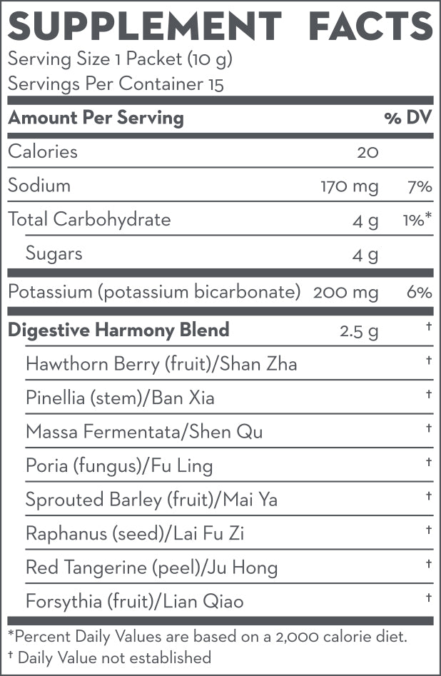 Digestive Harmony Supplement Facts